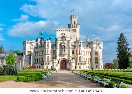 Tcheco república branco castelo belo céu Foto stock © artush