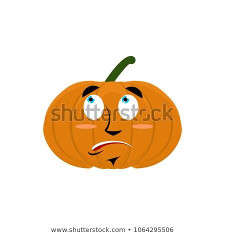 Pumpkin surprised Emoji. Halloween vegetable astonished emotion  Stock photo © popaukropa