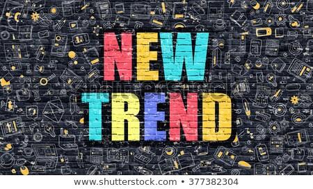 Nuevos tendencia oscuro moderna línea estilo Foto stock © tashatuvango