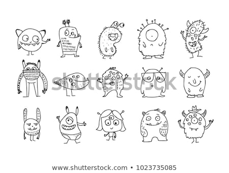 Doodle monster collectie cute kinderachtig monsters Stockfoto © zsooofija