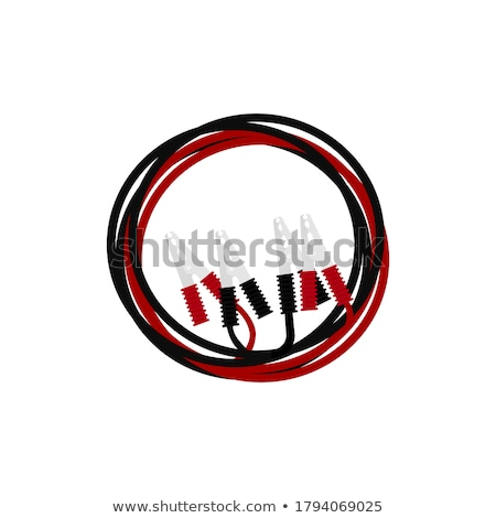 White Extension Cable on a Green Background Stock photo © artjazz