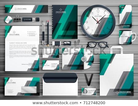 Negócio artigos de papelaria vetor conjunto projeto marca Foto stock © SArts
