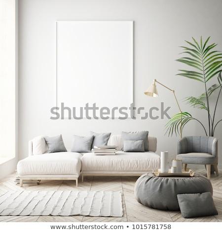 Moderne kamer muur achtergrond frame ruimte Stockfoto © ssuaphoto