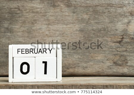 cubes 1st february stock photo © oakozhan