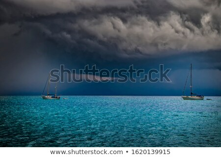 Seascape with Dark Moody Sky as Night Falls Stock photo © frannyanne