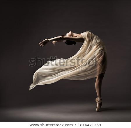 Woman dancing in chiffon dress Stock photo © julenochek
