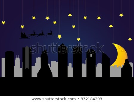 Cartoon Dallas skyline silhouet Texas USA Stockfoto © blamb