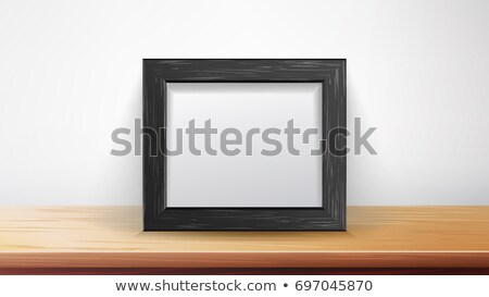 Realistic Rectangular Black Frame Vector. Good For Your Presentations, Exhibition. Interior Backgrou Stock photo © pikepicture