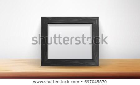 beyaz · boş · kağıt · duvar · poster · yukarı · şablon - stok fotoğraf © pikepicture