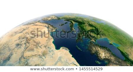 Görögország 3D földgömb térkép zászló 3d illusztráció Stock fotó © Harlekino