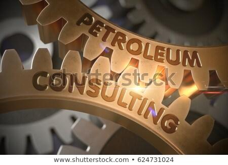 Ropa naftowa konsultacji złoty 3D mechanizm Zdjęcia stock © tashatuvango