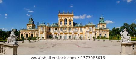 дворец Варшава выстрел облака замок Сток-фото © ldambies