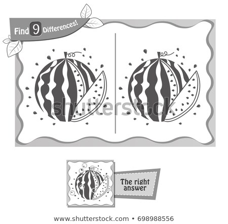 find 9 differences game black watermelon Stock photo © Olena