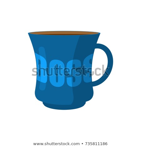 Mug of boss Isolated. pot of director. Vector illustration Stock photo © popaukropa