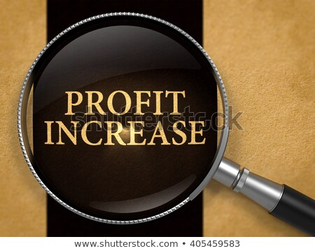 Profit Increase through Lens on Old Paper. Stock photo © tashatuvango
