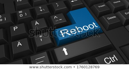 data management closeup of blue keyboard key 3d stock photo © tashatuvango