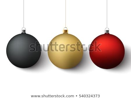 Establecer rojo dorado Navidad aislado Foto stock © wenani