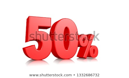 Red 50% discount sign isolated on white background. Stock photo © lenapix