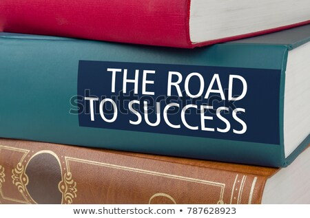 A book with the title The Road to success Stock photo © Zerbor