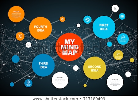 Vector abstract mind map infographic template Stock photo © orson