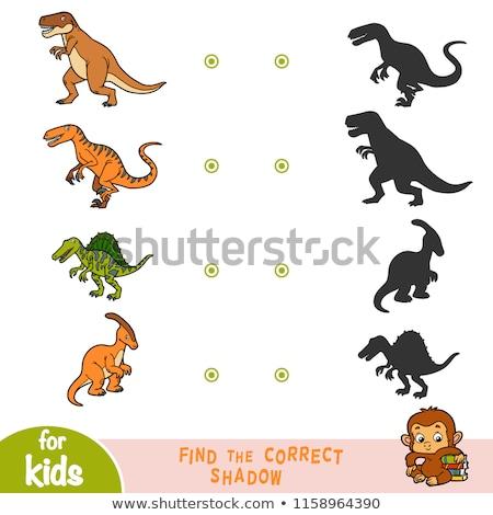 матча тень дети головоломки игры динозавр Сток-фото © adrian_n