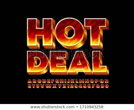 Flaming Hot Text Stock photo © blamb