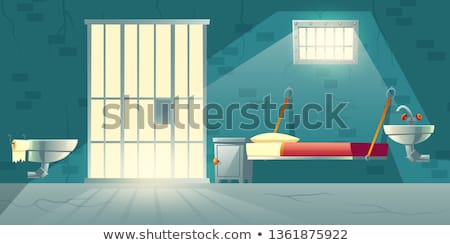 Jail bars, empty dark prison cell Stock photo © stevanovicigor