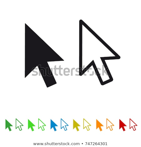 Arrow pointers web set in flat style Stock photo © studioworkstock