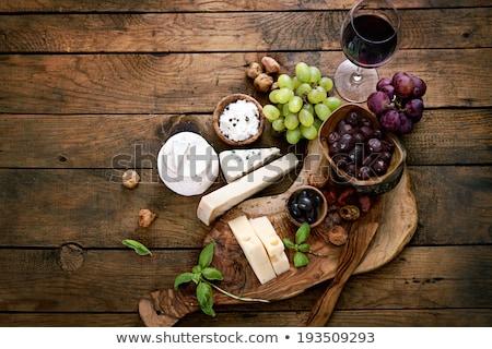 Camembert madera ingrediente gastronomía rebanada lácteo Foto stock © M-studio