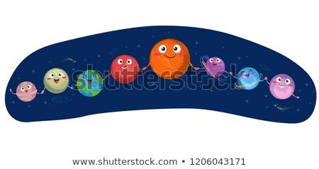 Mascot Planet Mercury Stock photo © lenm