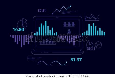 stock brokerage laptop computer background Illustrator. Stock photo © alexmillos