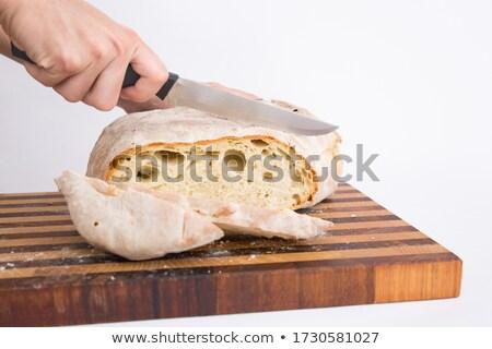Kobieta bochenek chleba kobiet Zdjęcia stock © IS2