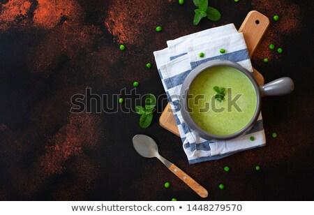 ボウル · 自家製 · ブロッコリー · スープ · オーガニック · ミント - ストックフォト © mpessaris