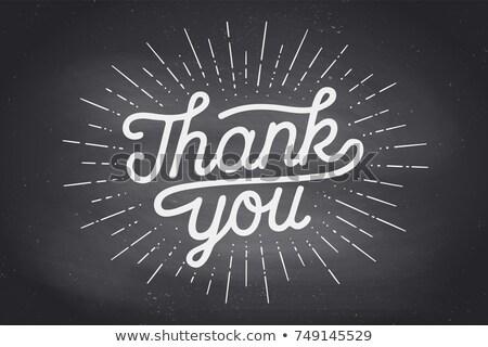 El teşekkürler teşekkür ederim kara tahta kaligrafi Şükran Günü Stok fotoğraf © FoxysGraphic