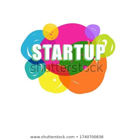 Embleem start omhoog project opschrift merk Stockfoto © FoxysGraphic