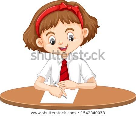 Girl writing alphabet Stock photo © IS2