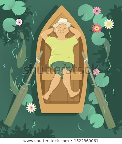 Man sleeping in a rowboat Stock photo © IS2