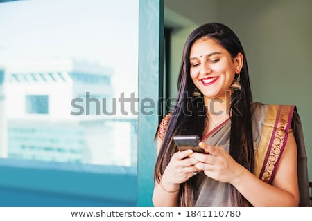 Beautiful woman in traditional indian clothes. Stock photo © NeonShot