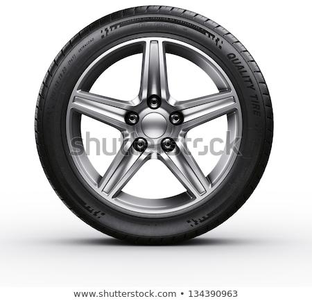 car tires 3d rendering Stock photo © Wetzkaz
