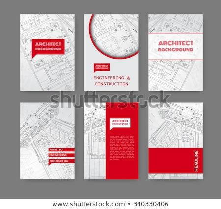 Viselet formák névjegy absztrakt technológia üzlet Stock fotó © alexaldo