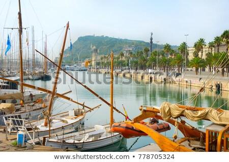 порта хорошо марина Барселона Испания известный Сток-фото © joyr