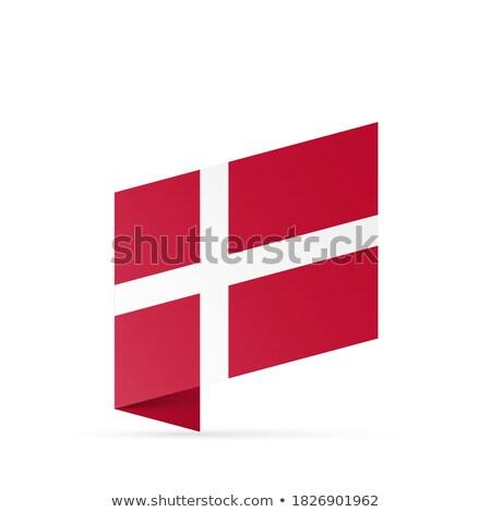 Dinamarca bandera aislado moderna sombra negocios Foto stock © kyryloff