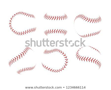 Dentelle baseball blanche noir résumé design Photo stock © m_pavlov