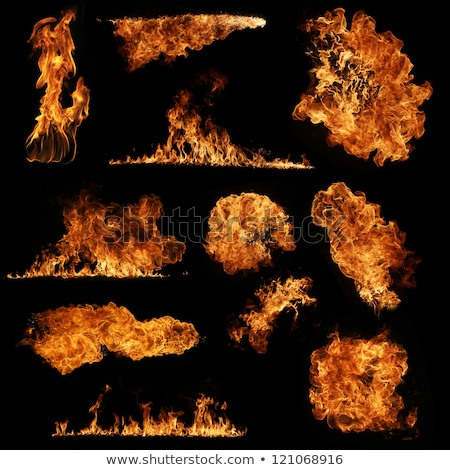 ember fire on black wall Stock photo © lunamarina