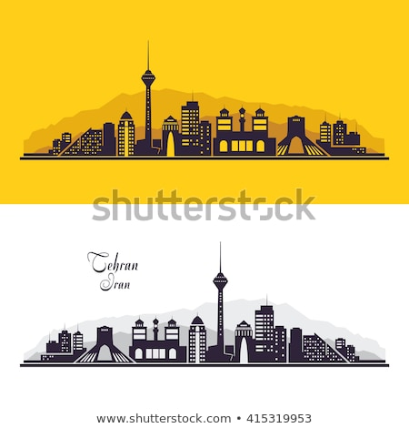Tehran residential buildings, skyline. Iran Stock photo © joyr