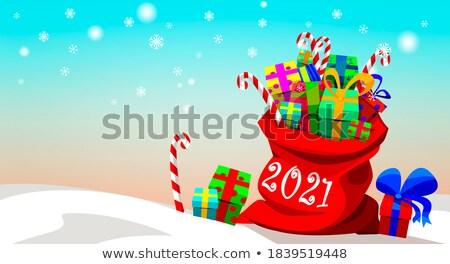 Stok fotoğraf: Noel · baba · kostüm · kutu · ayarlamak · aile