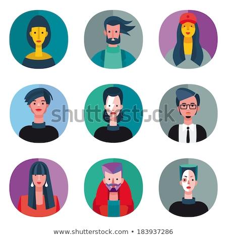 Cool люди набор мобильных иконки Сток-фото © NikoDzhi