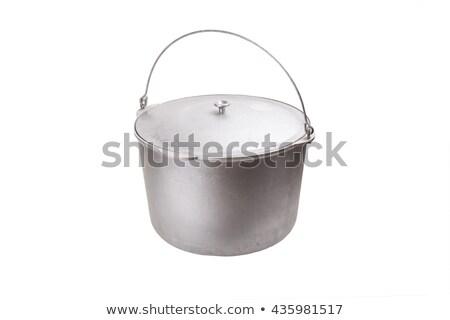Obozu melonik odizolowany kemping puli biały Zdjęcia stock © popaukropa
