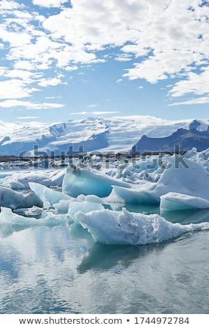 tájkép · jég · tó · este · park · Európa - stock fotó © kotenko