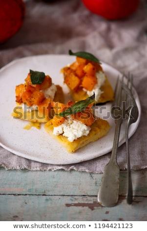 Kabak odak gıda meyve peynir sandviç Stok fotoğraf © zoryanchik